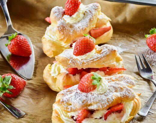 Erdbeer Eclair