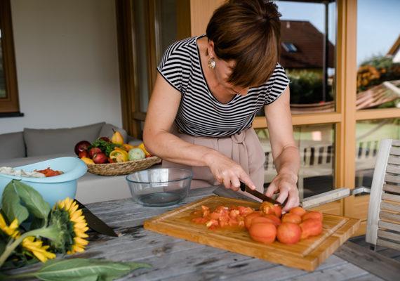 Tomaten schälen