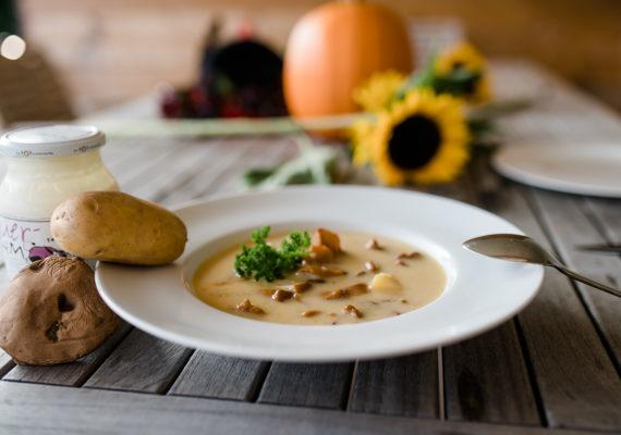 Erdäpfel Schwammerl Suppe